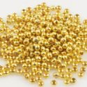 Beads, High quality metal alloy, Gold colour, Disc shape, Diameter 2mm, 5g, 200 Beads, (JSZ0001)